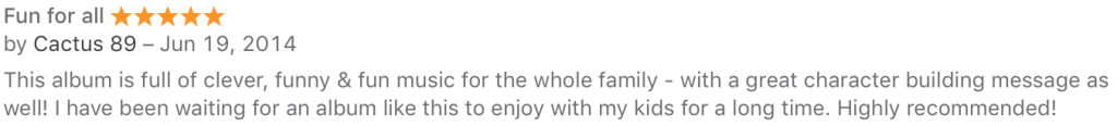 itunes review BNICE 1